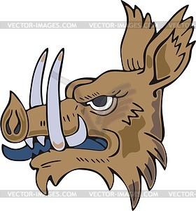 Wildschweiner Kopf - Vektor-Klipart