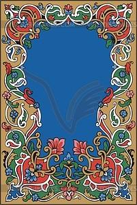 Floraler Rahmen - vektorisiertes Design