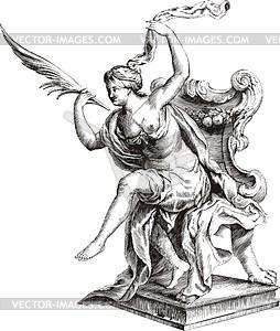 Kassiopeia («Uranographia» von J. Hevelius) - Vektorgrafik