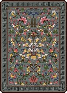 Chinesischs florale Design - Vektor-Clipart / Vektor-Bild