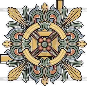 Dekorative mittelalterliche Ecke - Stock-Clipart