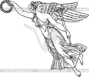 Engel als dekorative Ecke - Vektorgrafik