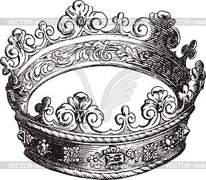 Die Sternbild-Gravüre Nördliche Krone - Vektorgrafik