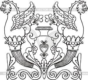 Antike Gravur Dekoration - Stock Vektor-Bild
