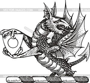 Drache - vektorisiertes Clipart
