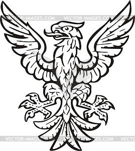Heraldischer Adler - Vektorgrafik