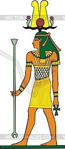 Ägyptische Götter - vektorisiertes Clip-Art