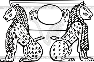 Ägyptische Mythologie - vektorisierte Abbildung