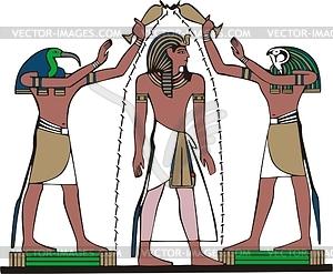 Ägyptische Mythologie - Vinyl-Ready Vektor-Clipart