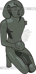 Ägyptische Mythologie - vektorisiertes Clipart