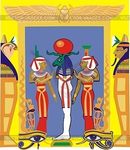 Ägyptische Götter - vektorisiertes Bild