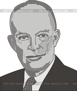Dwight Eisenhower - Vektorgrafik