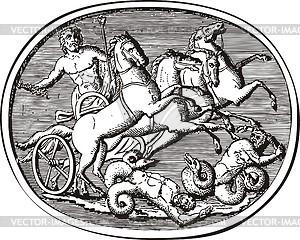 Antike Gravur - Vector-Clipart