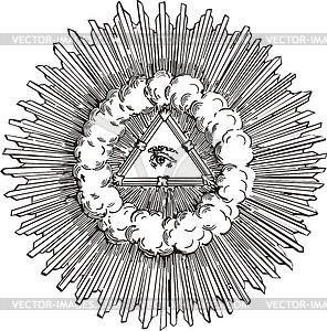 Auge Gravüre - Vektorgrafik