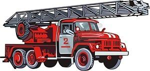 Feuerwehrwagen - Vektorgrafik-Design