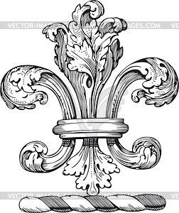 Burbonische Lilie - Vektor-Skizze