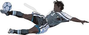 Fußball-Spieler - Stock Vektor-Clipart