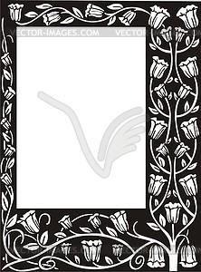 Blumenrahmen im Jugendstil - vektorisierte Abbildung