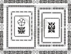 Blumenrahmen im Jugendstil - Vektor-Illustration