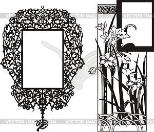 Blumenrahmen im Jugendstil - Vektor-Clipart / Vektor-Bild