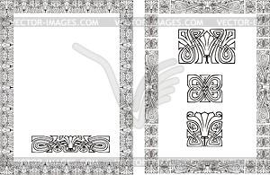 Blumenrahmen im Jugendstil - Vector-Design