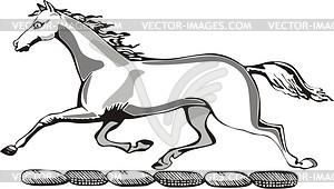 Pferd Helmkleinod - Vektorgrafik