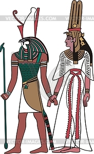 Horus - farbige Vektorgrafik