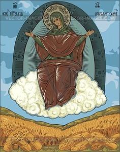 Orthodoxe Ikone der Jungfrau Maria - Vektorgrafik