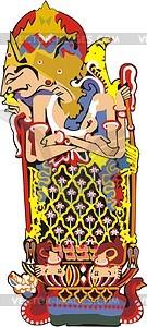 Javanische Mythologie - Vektorgrafik