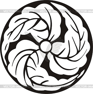 Japanisches Blume-Mon - Vektorgrafik