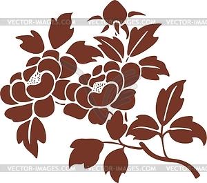 Japanische Zierpflanzen - Vector-Clipart EPS