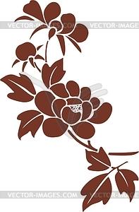 Japanische Zierpflanzen - Vektor-Klipart