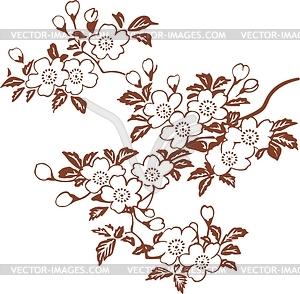 Japanisches Blumendesign - Vector-Clipart / Vektorgrafik