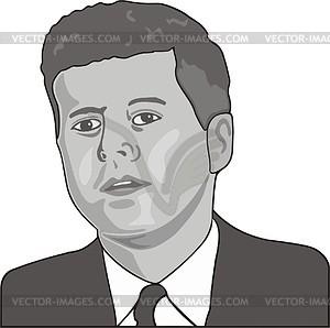 John Kennedy - Vektorgrafik