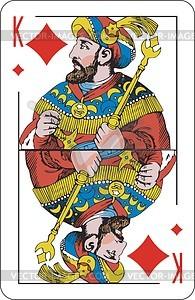 Karo-König - Vektorgrafik