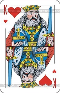 Herz-König - Vektorgrafik