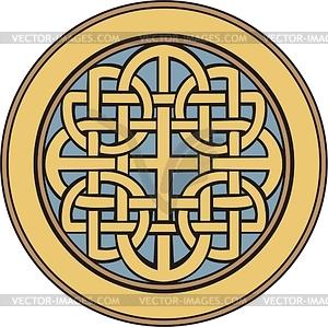 Mittelalterliches keltische Knotenornament - Vektorgrafik