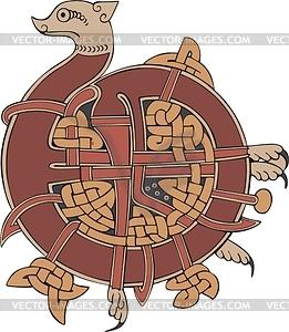 Keltischer Buchstabe - Stock Vektorgrafik