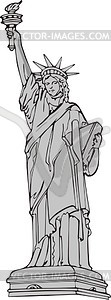 Die Freiheitsstatue in New York - Vector-Clipart / Vektor-Bild