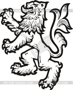 Heraldischer Löwe - Vector Clip Art