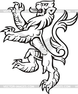 Heraldischer Löwe - Vector-Clipart / Vektor-Bild