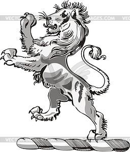Löwe Helmkleinod - Royalty-Free Clipart