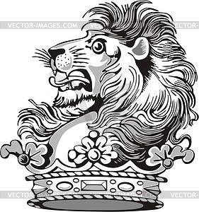 Löwe - Royalty-Free Vektor-Clipart