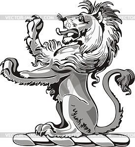 Löwe Helmkleinod - Clipart-Bild