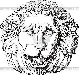 Löwenkopf-Gravur - Vektorgrafik