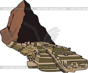 Machu Picchu - Vektorgrafik