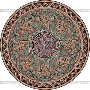 Mittelalterliches runde Ornament - Vektorgrafik