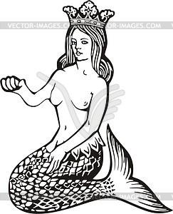 Meerjungfrau - vektorisiertes Design