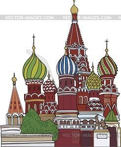 Moskau, St. Basil Kathedrale - Vektorgrafik