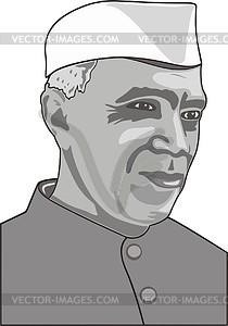 Jawaharlal Nehru - vector clipart